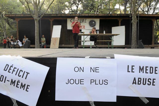 Grève des intermittents au festival de Montpellier