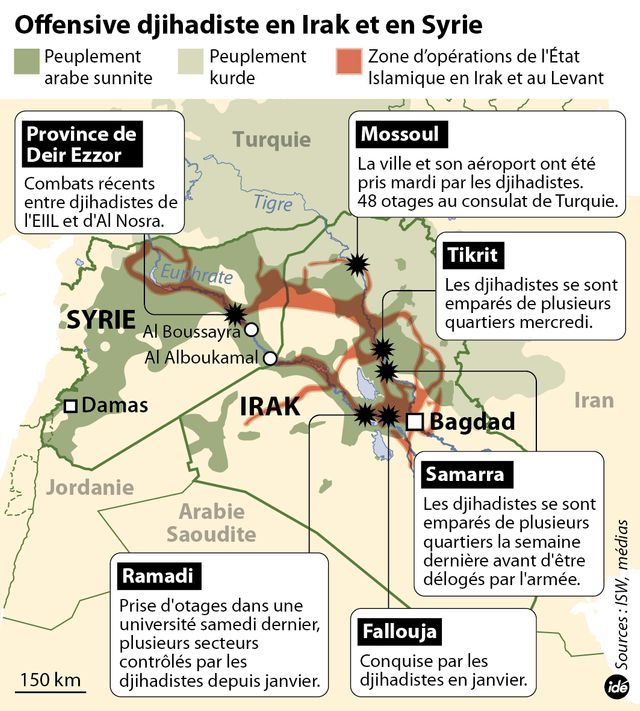 L'offensive djihadiste en Irak