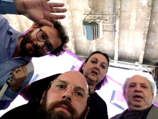Marie de Brugerolle, Julien Fronsacq, Gérard Wajcman et Julien Bismuth dans le RDV