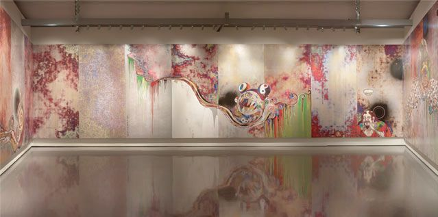 "Takashi MURAKAMI - ""727-272 The Emergence of God At The Reversal Of Fate"" 2007 Courtesy Galerie Perrotin"