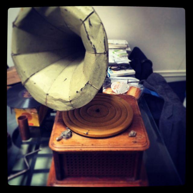 Le gramophone que les enfants ont pu découvrir