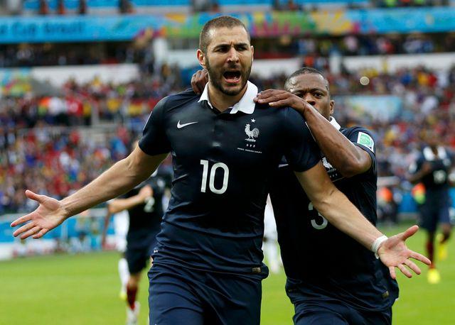 Karim Benzema, auteur d'un doublé pour son premier match au Mondial