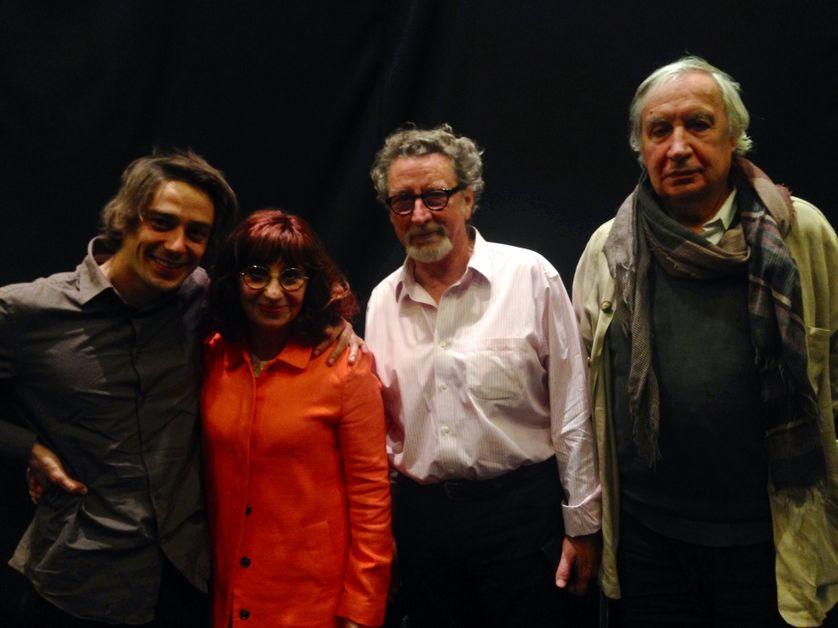 Ariane Ascaride, Jacques Boudet, Robert Guédiguian et Adrien Jolivet dans le RDV