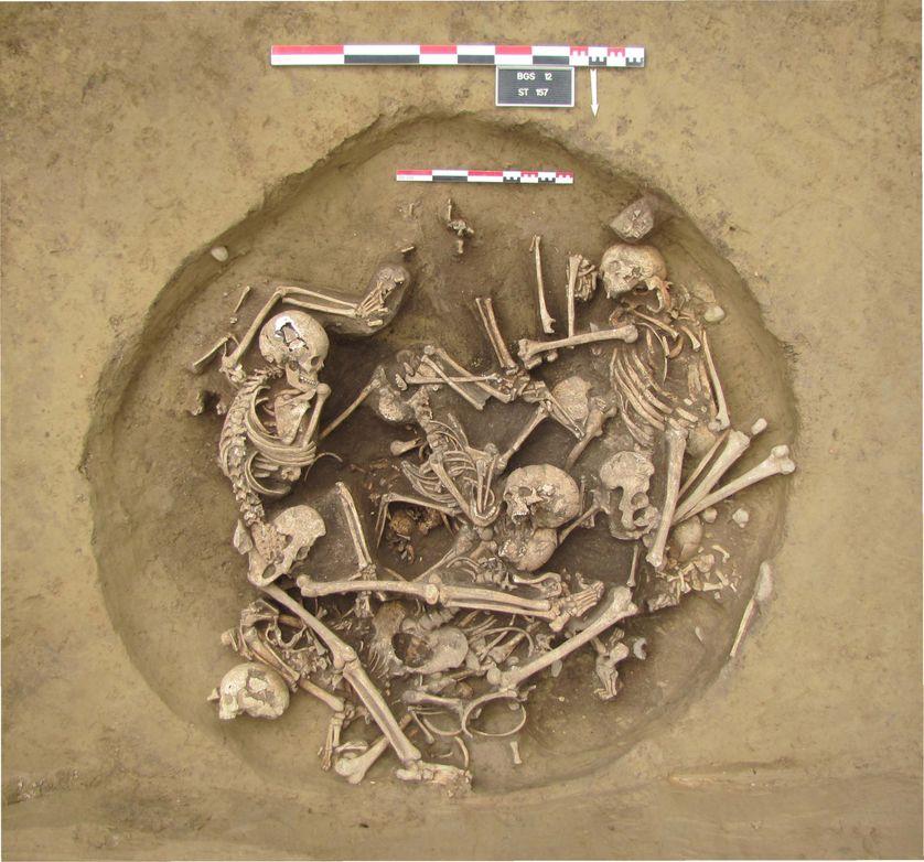 Au sommet  de la fosse 157 : huit corps, mais que reste-t-il en dessous ?