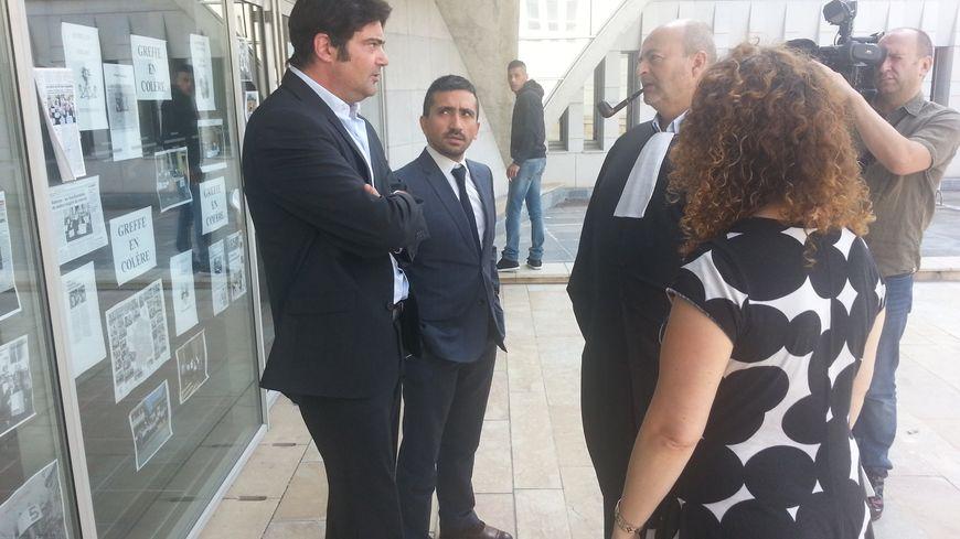 Les trois avocats du procès