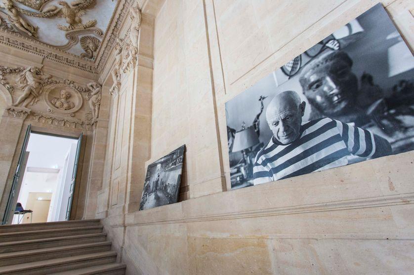 Le Musée Picasso en fin de rénovation le 15 mai 2014, vue de l'intérieur de l'hôtel Salé