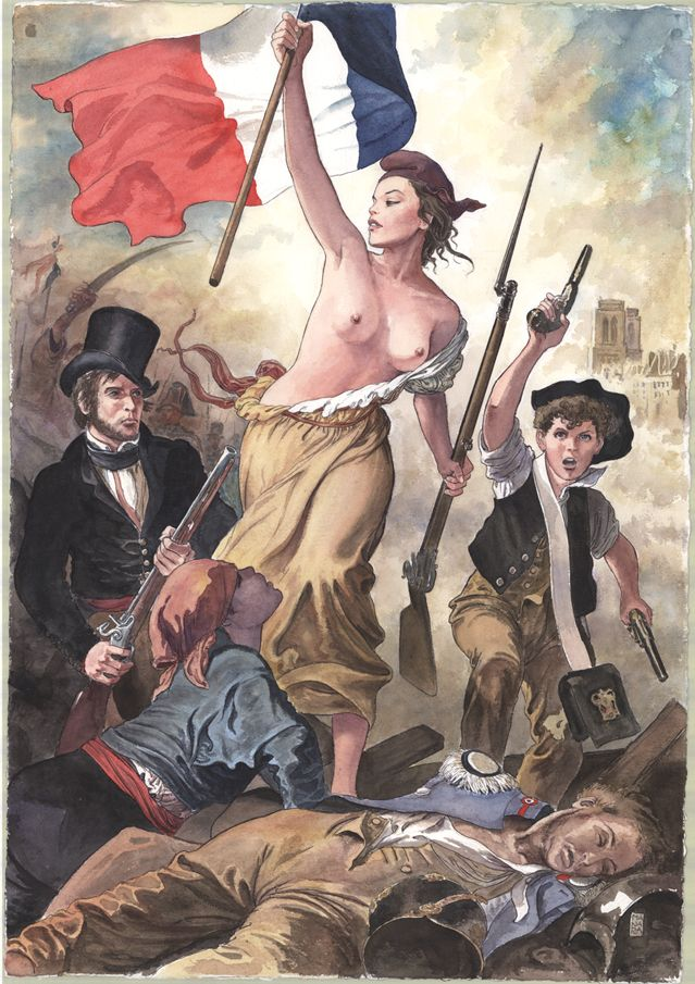 Hommage à Delacroix la liberté quide le peuple