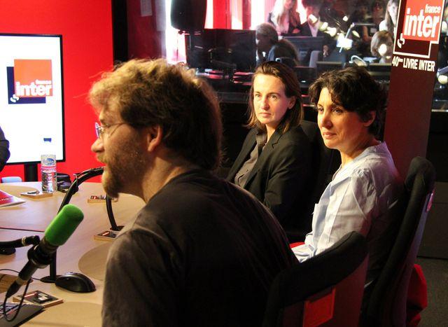 Céline Minard et deux membres du jury