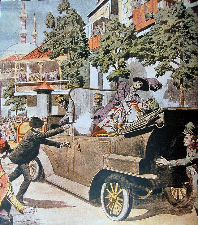 Attentat de Sarajevo une du Petit Journal du 12 juillet 1914.