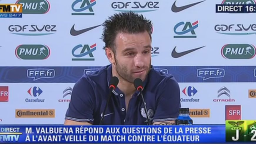 Mathieu Valbuena, ici face à la presse le 23 juin a un profil qui séduit Michel Gendre