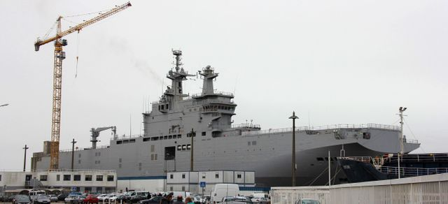 """Le """"Vladivostok"""", commandé par la Russie aux chantiers navals français"""