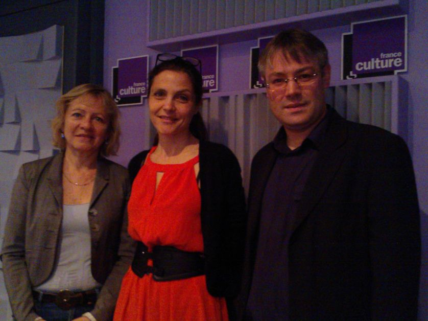 Frédérique Rolet (Snes), Marie-Caroline Missir (l'Express.fr) et Antoine Tresgots (Unsa)