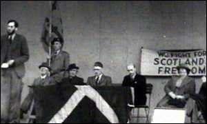 """Meeting du """"Scottisch Party"""", le 14 décembre 1933."""