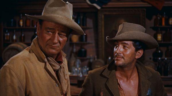 John Wayne et Dean Martin dans RIO BRAVO (Howard Hawks, 1959)