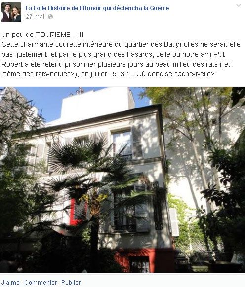 Urinoir sur facebook