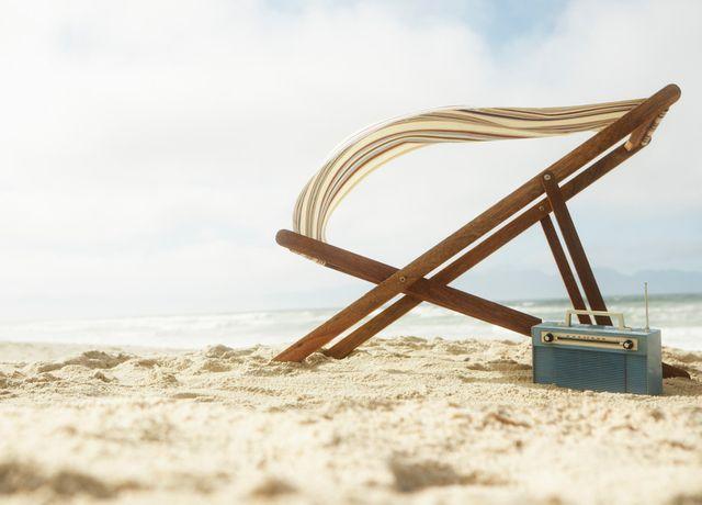 La radio à la plage