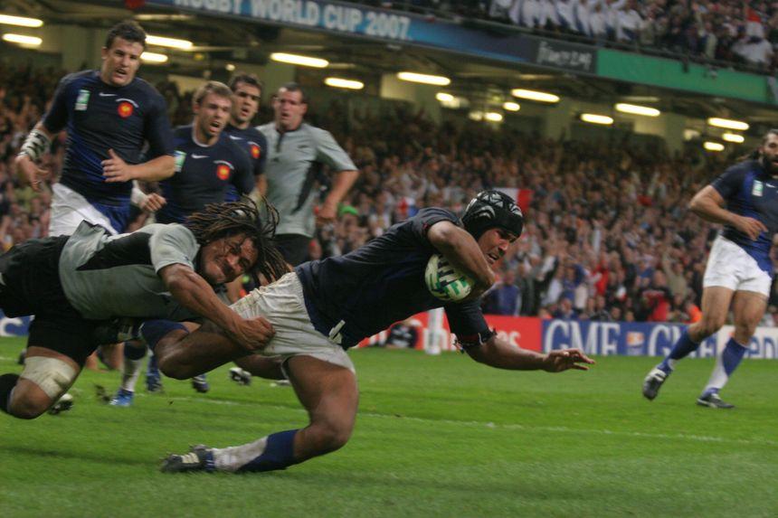 Thierry Dusautoir en quart de finale de la coupe du monde 2007 face à la Nouvelle-Zélande
