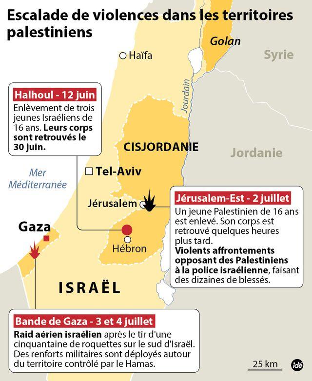 Escalade de la violence dans les territoires palestiniens