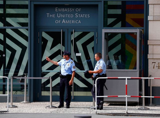 L'ambassade des Etats-unis à Berlin