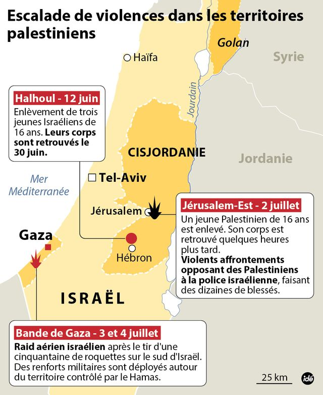 Escalade de violences en Palestine