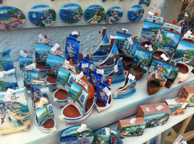 Objets touristiques de l'île du Giglio