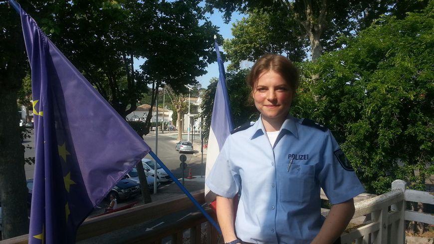Johanna Stricker, capitaine de police à Dusseldorf, est en poste pour 15 jours à Arcachon