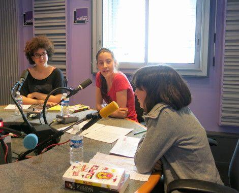 Forte Chaleur sur Paris et dans notre studio 153 à France Culture: Aline Pailler & les jeunes du club de lecture Lekri Dezados
