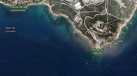 Le corps a été retrouvé au large du Cap Cépet (au sud-est de la Presqu'île de Saint-Mandrier).