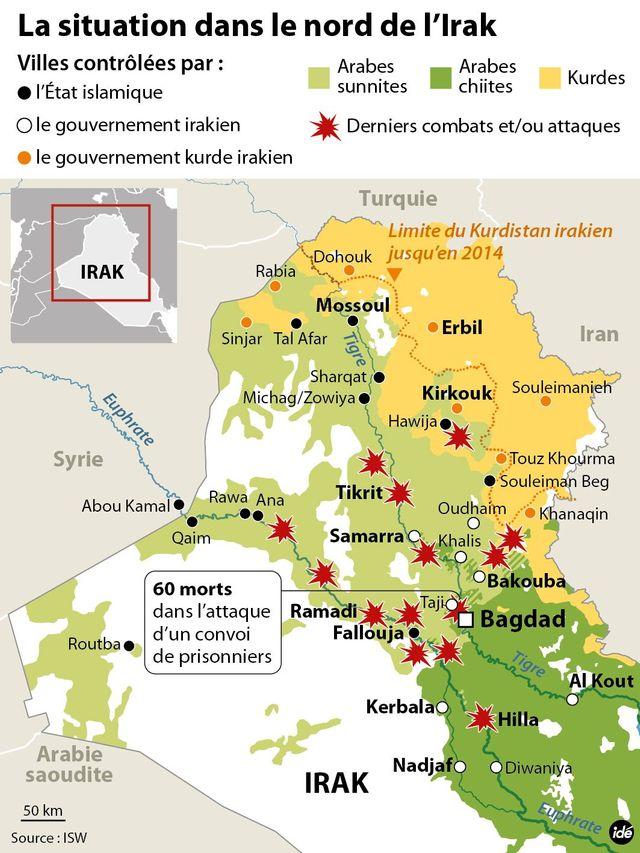 Infographie Irak