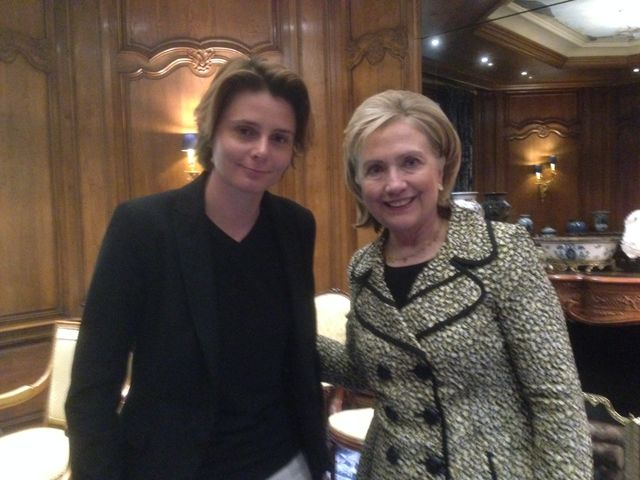 Hilary Clinton et Caroline Fourest