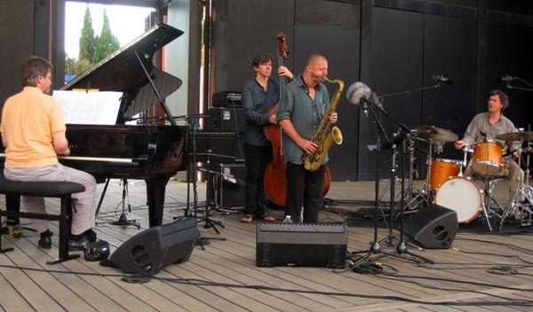 Le quartette pendant la balance  à l'Amphithéâtre du Domaine d'O  © Xavier Prévost France Musique