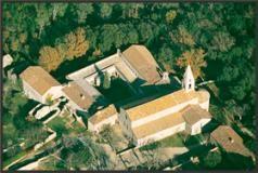 L'Abbaye du Thoronet vue du ciel