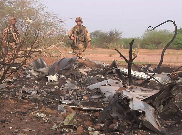 Débris de l'avion Air Algérie