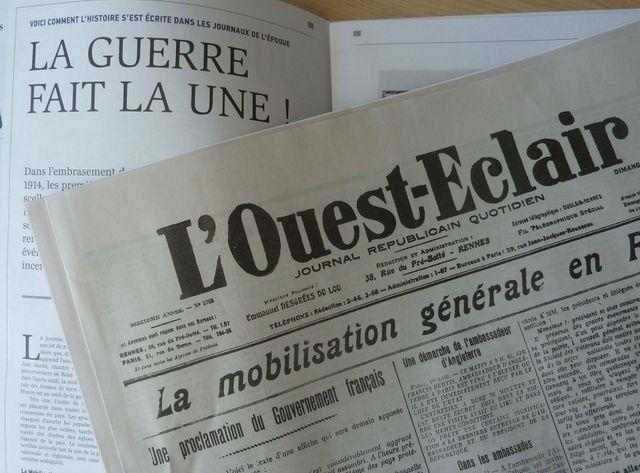Journaux de guerre commémoration centenaire