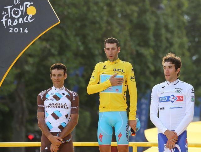 Nibali, Péraud, Pinot : le trio dc tête du Tour 2014