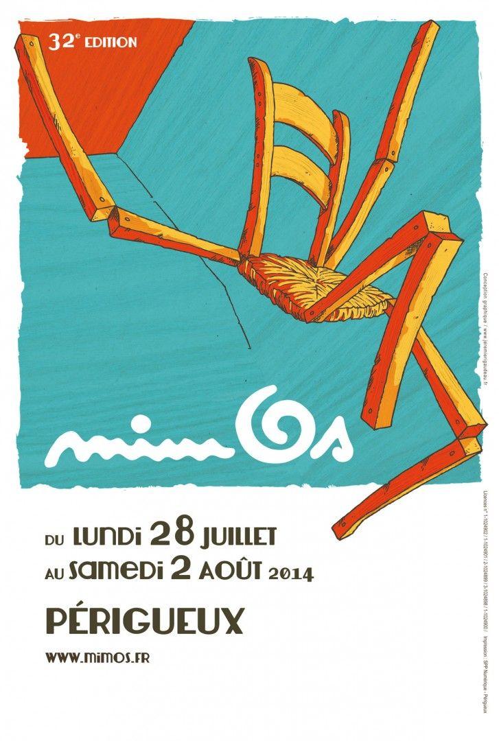 Affiche 2014 du Festival des arts du mime et du geste