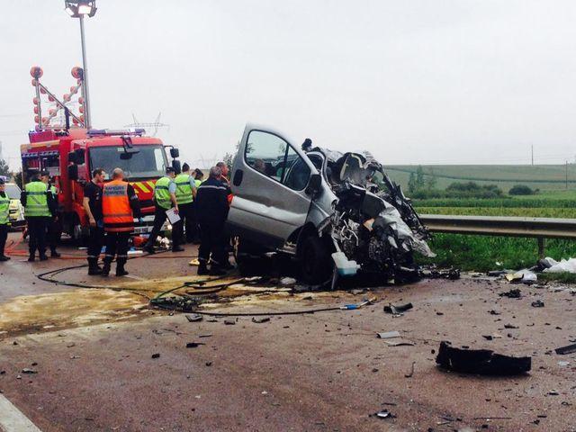 un collision routière dans l'Aube dait six morts dont 5 enfants