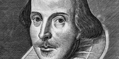 William Shakespeare par Droeshout, tiré du Premier Folio
