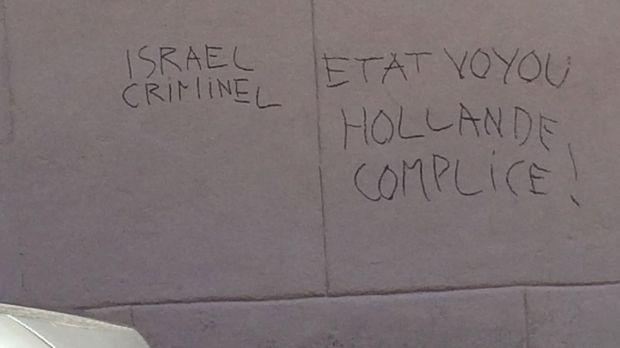 Le mur d'une synagogue tagué à Perpignan