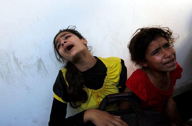 Gaza une école de l'ONU bombardée