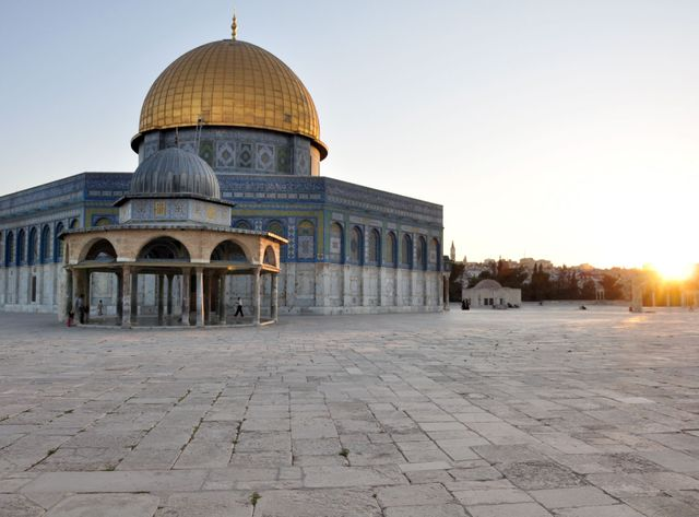 L'esplanade des Mosquées et le Dôme du Rocher