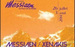 Affiche festival Messiaen à la Meije 2014