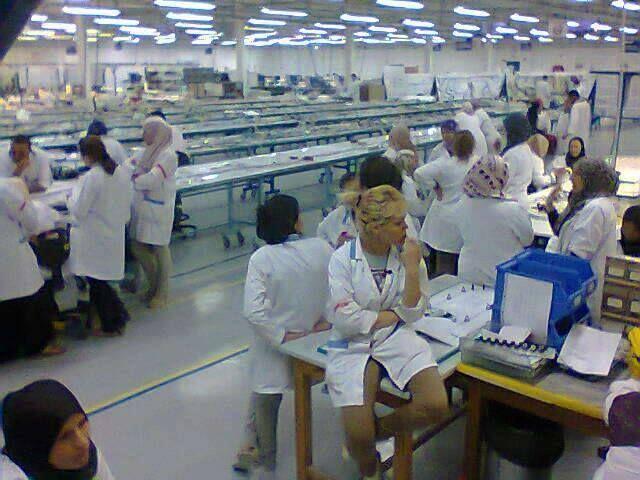 L'usine Latelec lors d'un debrayage