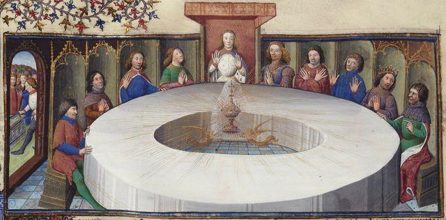 Les chevaliers de la Table ronde autour du Graal
