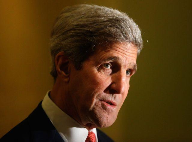 John Kerry en visite au Caire