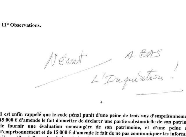 Commentaire de Jacques Myard sur sa déclaration