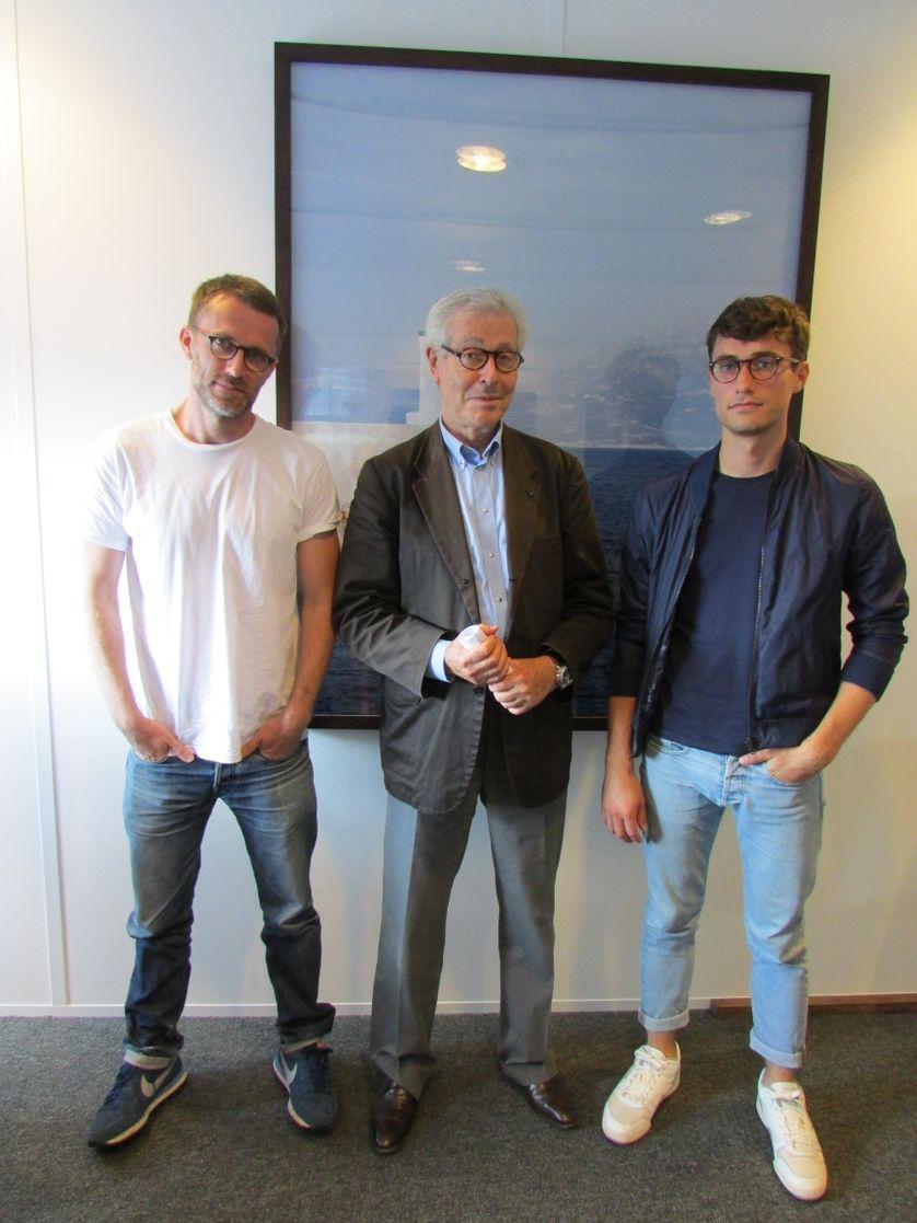 Loïc Prigent, Didier Grumbach et Flavien Juan Nunez