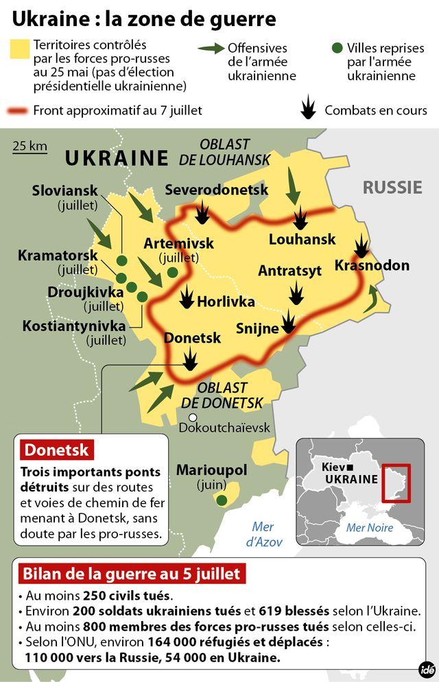 Les pro-russes se regroupent à Donetsk