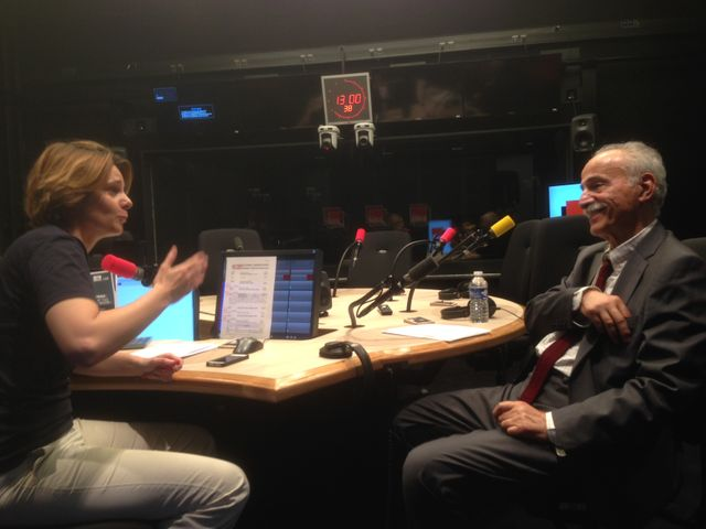 Abdol-Karim Lahidji au micro de Caroline Fourest