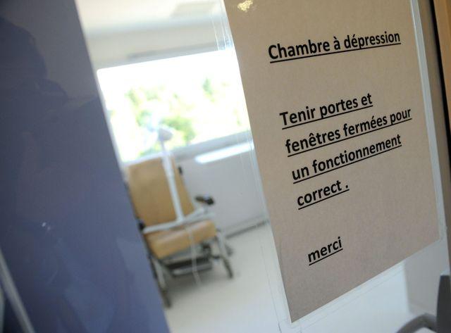 Une chambre à dépression pour un malade d'Ebola, à Lille